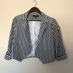 Beetlejuice Blazer Black and White Stripes